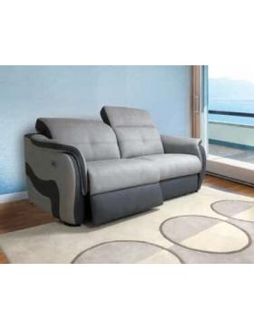 Canapé 3 places avec 2 relaxations électriques Orion