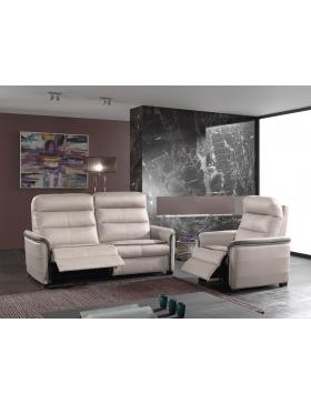 Canapé 2,5 places avec 2 relaxations électriques Jason