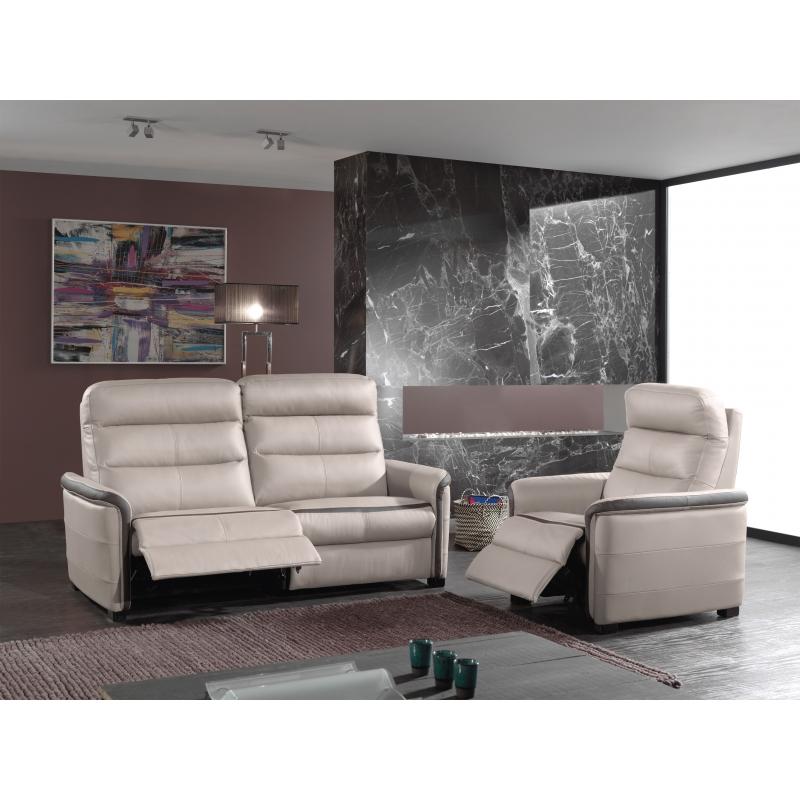 Canapé 3 places relaxation électrique Jason