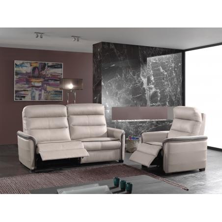 JASON, canapé 2,5 places avec 2 relaxations électriques