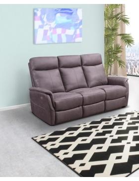 Canapé 3 places avec 2 relaxations électriques Karles