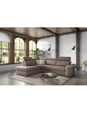 Salon d'angle avec 1 relaxation électrique Sorelle
