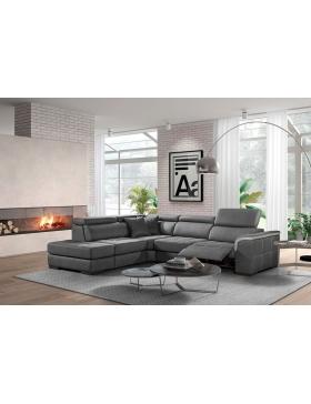 Salon d'angle avec 1 relaxation électrique Sindy