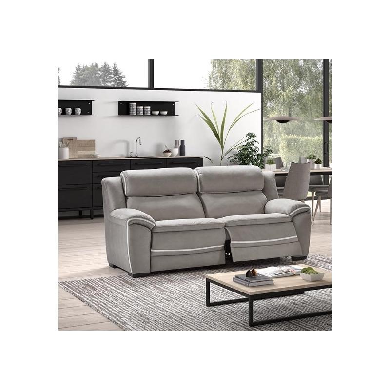 Canapé 2,5 places avec 2 relaxations électriques Balt