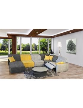 LINDA, salon d'angle modulable - 1 relaxation électrique