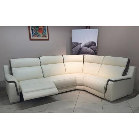 Salon d'angle - 1 relaxation électrique TINY